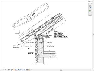 Fertiges 2D Detail eines Traufanschlusses
