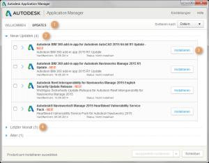 Autodesk Application Manager: Halten Sie Ihre Produkte aktuell