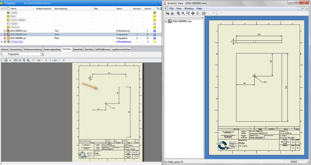 Das Hotfix löst das Problem mit der DWF Erstellung. Nun werden auch die Modellkanten wieder richtig dargestellt. Auf diesem Bild: VERGLEICH ZWISCHEN DWF UND INVENTOR DATEI (VOR DEM HOTFIX)