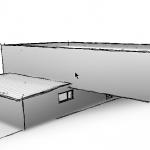 Ergebnis skizzierte Darstellung eines Gebäudes