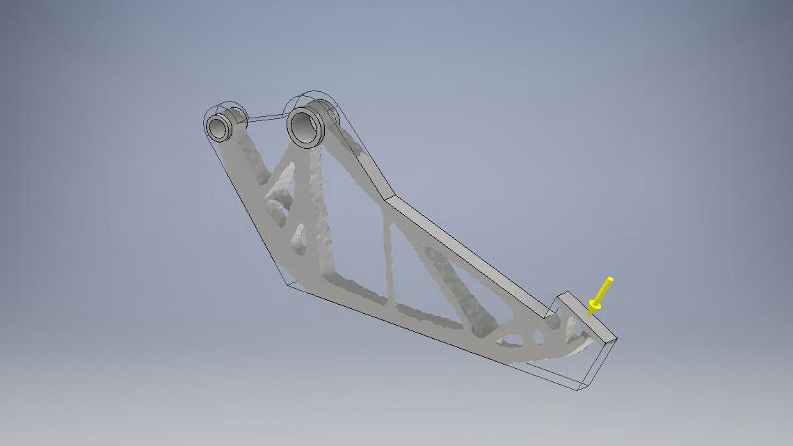 Das Rechenergebnis wird als Volumenkörper in das Bauteil übertragen für weitere Bearbeitungsschritte