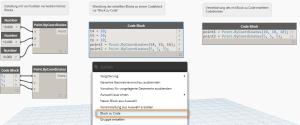 Nutzung der Option Block zu Code