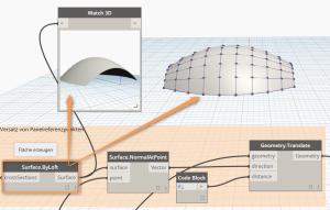 Nutzung des Watch3D Blockes in Autodesk Dynamo