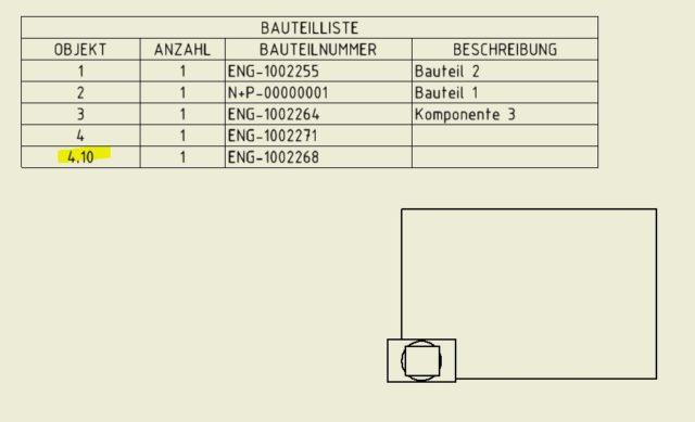 Bauteilliste-BOM-Export