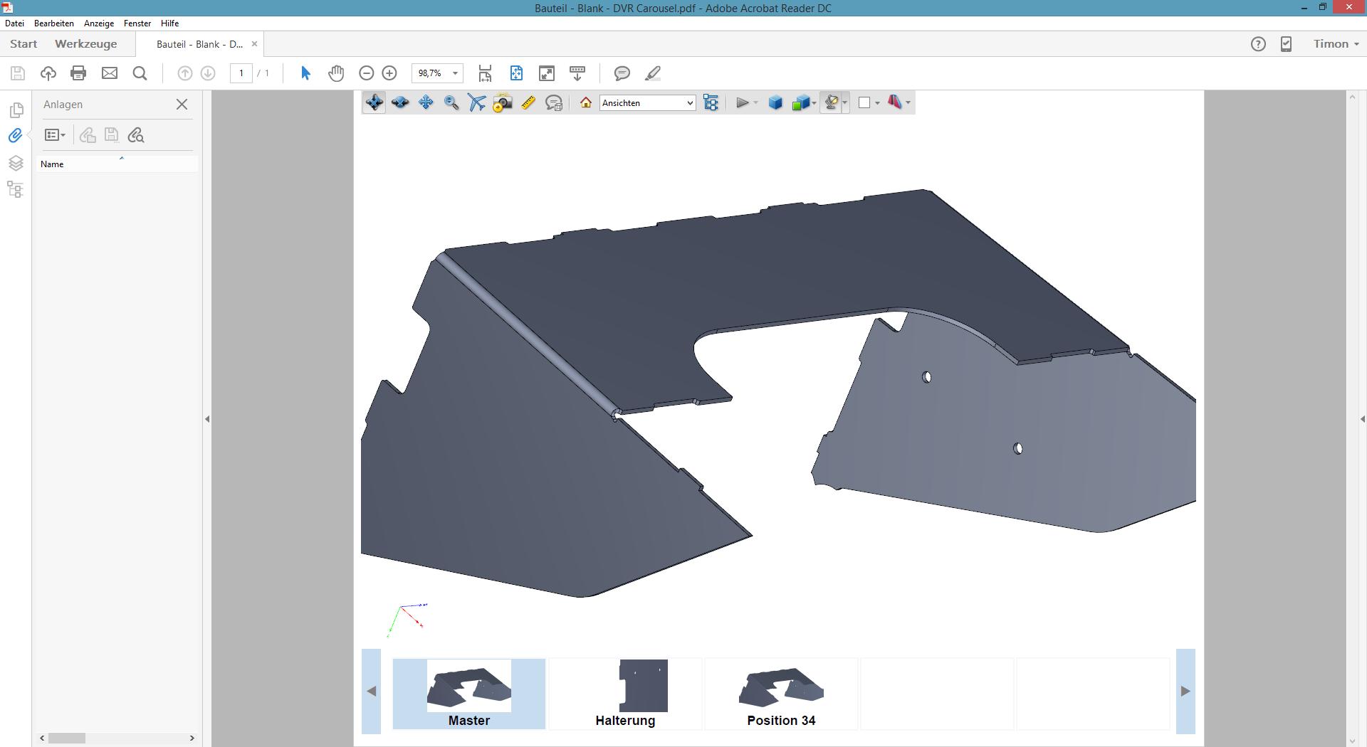 """3D PDF Inventor 2017 Vorlage """"DVR Carousel"""""""