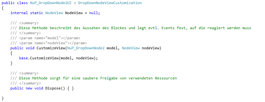 Codebeispiel Implementierung INodeViewCustomization