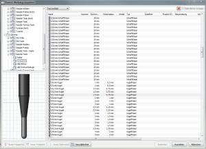 Programmierung mit HSM-Express Werkzeugdatenbank