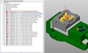 Jobliste 3D mit Bauteil