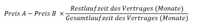 Formel zur Berechnung der Wechselkosten