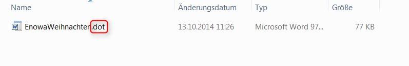 Dateityp für Serienbrieferstellung in APplus