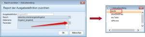 Reportparameter zur APplus-Angeboterstellung