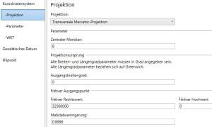 Einträge-Registerkarte-Projektion