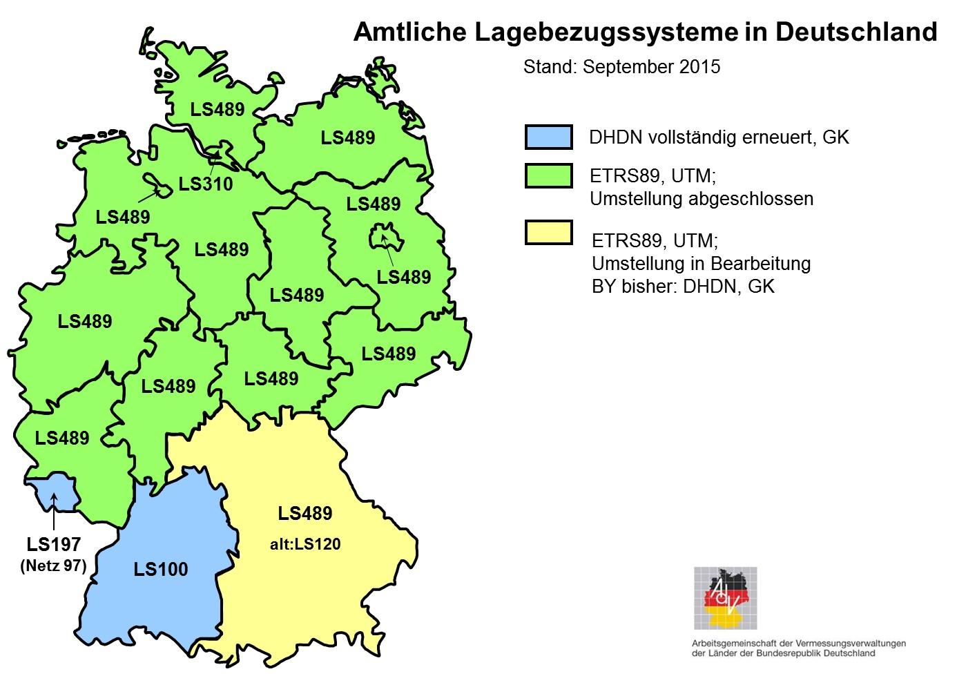 Amtliche Lagebezugssysteme Umstellung auf ETRS89/UTM Tranforamtion Geodaten