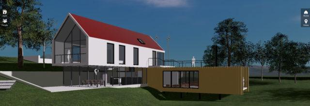 Außenansicht eines Hauses mit Revit Live