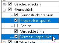 Unterkategorien der Kategorie Grundstück im Sichtbarkeit/Grafken Dialog