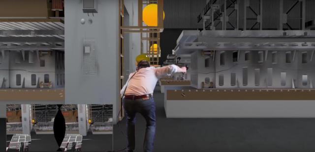 Einsatz einer VR-Brille zum Service-Check