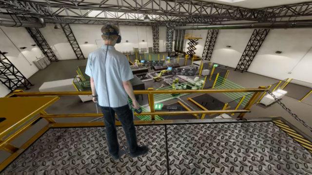 Virtuelles Abbild einer Fertigungshalle