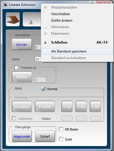 Standard Speichern hyperCAD-S 2018.1