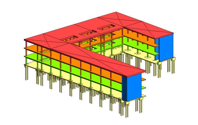 Farbliche Kennzeichnung von Ebenen durch Filter in Revit