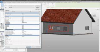Änderungen des Parametertyps wirken sich auf alle Elemente gleichen Typs aus – Die Breite wurde bei allen 3 Fenstern verändert