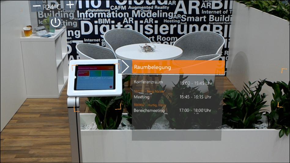 Elektronische Türbeschilderung und Unterstützung des Prozesses Reservierungsmanagement mithilfe von Augmented Reality