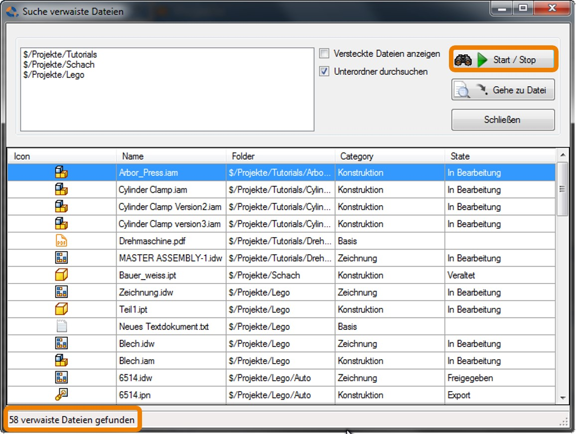 Autodesk-Vault-Tresor-Dateien-ohne-Referenzen-finden-und-löschen-NuPunusedFiles