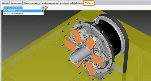 Autodesk Vault Vorschau Konstruktion NuPView