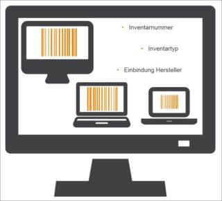 Daten, die im Rahmen des Inventarmanagements erfasst und verarbeitet werden muessen