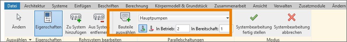 Parallele Pumpen in Autodesk Revit 2019