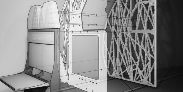 Flugzeugtrennwand Airbus erstellt durch generatives Design