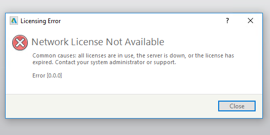 Network License Error LMTool