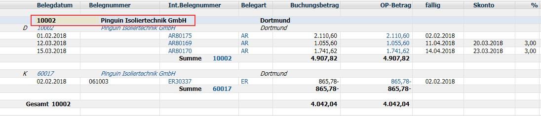 """Diamant®/3 Bericht """"gemischtes Kontokorrent"""" aus Sicht eines Debitors"""