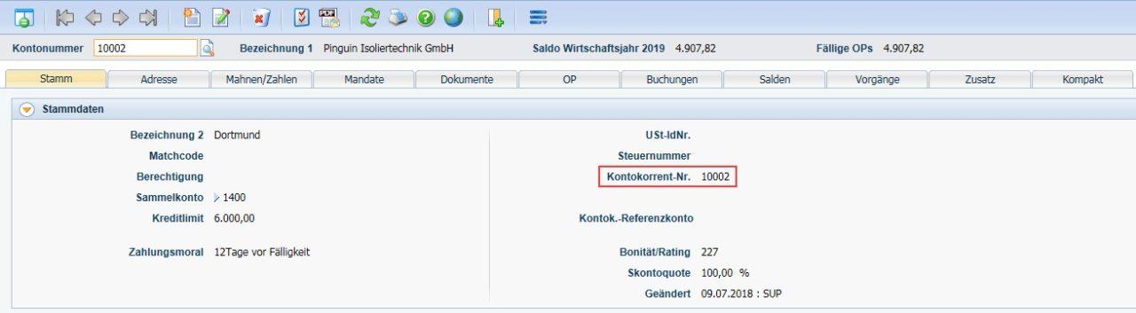 """Produktives-Debitoren- und Kreditorenmanagement-Diamant®/3-Debitorkonto-Reiter-""""Stamm"""""""