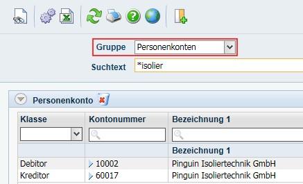 """Produktives-Debitoren- und Kreditorenmanagement-Diamant®/3-Suchmaske-nach-Gruppe-""""Personenkonten"""""""