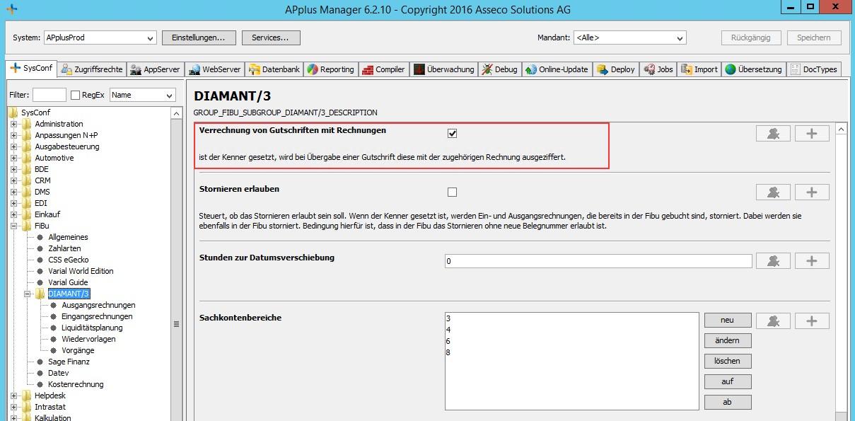 Gutschriften-automatisch-verrechnen-Konfigurationseintrag-im-APplus Manager