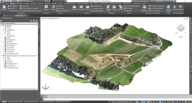 Übergabe von ReCap-Datei nach Civil 3D