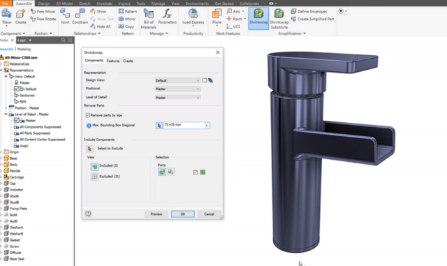 Erstellung-BIM-Objekt-Nutzung-der-Funktion-Remove-parts-per-size