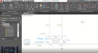 Electrical-Toolset Arbeitsfläche Schaltplan
