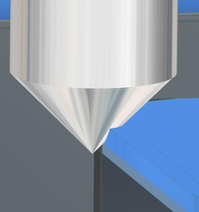 hyperMILL-Fasenfräser-Simulation