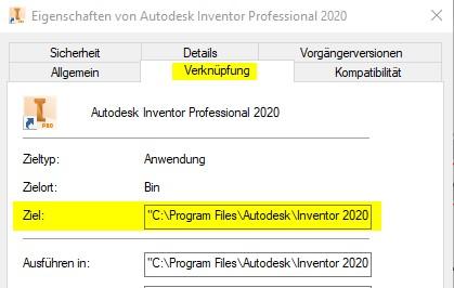Inventor-Konfiguration-Öffen-der-richtigen-Projektdatei-beim-Start