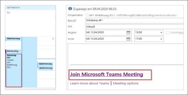 Microsoft-Teams-Einladung