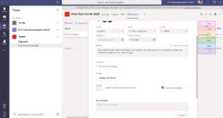 Virtuelle Projekt- und Teamarbeit, Gruppenchat und Online-Meetings mit Microsoft Teams