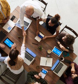 Mobile-Arbeit-in-Projektgruppen