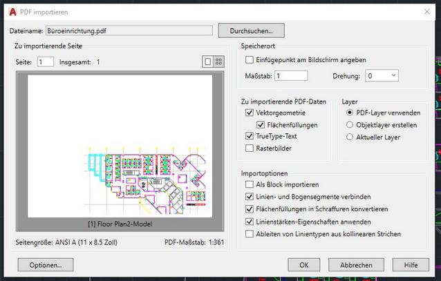 AutoCAD -Tipp: PDF-Export und -Import