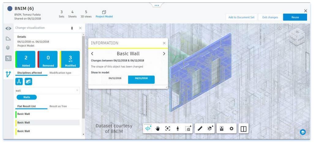 Zusammenarbeit Rveit und BIM 360 Design Visualisierung von Änderungen