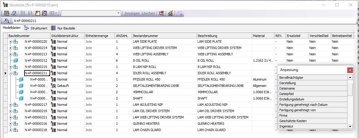 Bearbeitung-iProperties-mit-Stückliste-BIM-Autodesk-Inventor