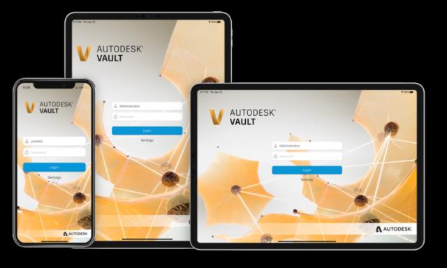 Vault-Mobile-App Login Screen