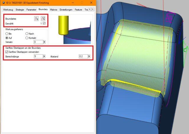 3D- und 5X-Äquidistantes Schlichten