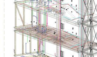 In Autodesk Revit: Zusammenarbeit in einem Gesamtmodell